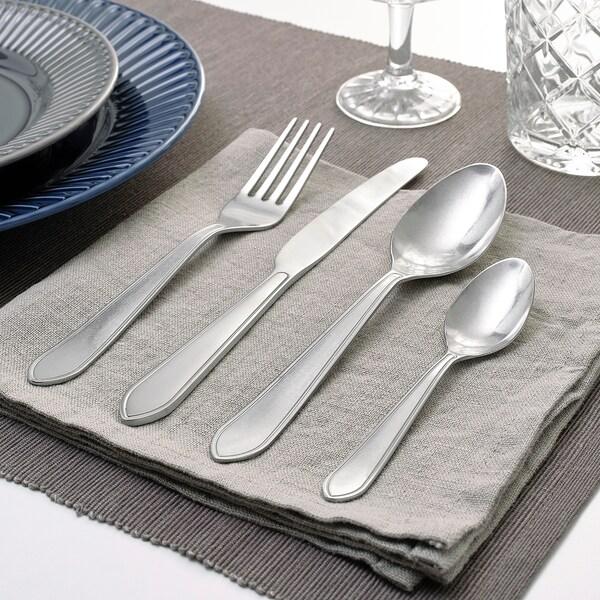 IDENTITET 16-piece flatware set stainless steel