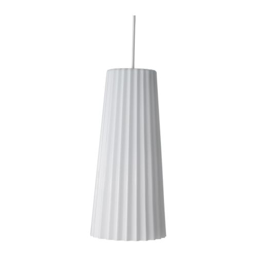 IKEA 365+ LUNTA Pendant lamp IKEA The pleated shape of the shade provides a glare free light.