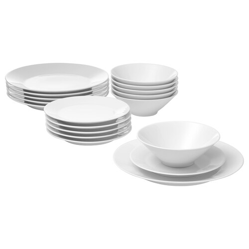 IKEA 365+ 18-piece dinnerware set white