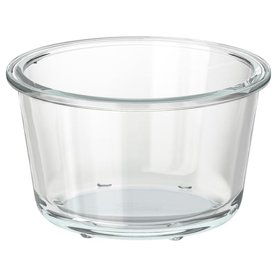 """IKEA 365+ food container round/glass 3 ¼ """" 5 ½ """" 20 oz"""