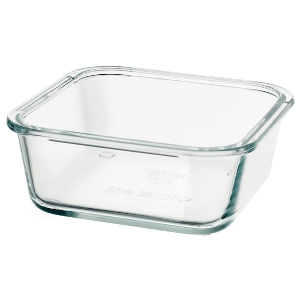 """IKEA 365+ food container square/glass 6 """" 6 """" 2 ¼ """" 20 oz"""
