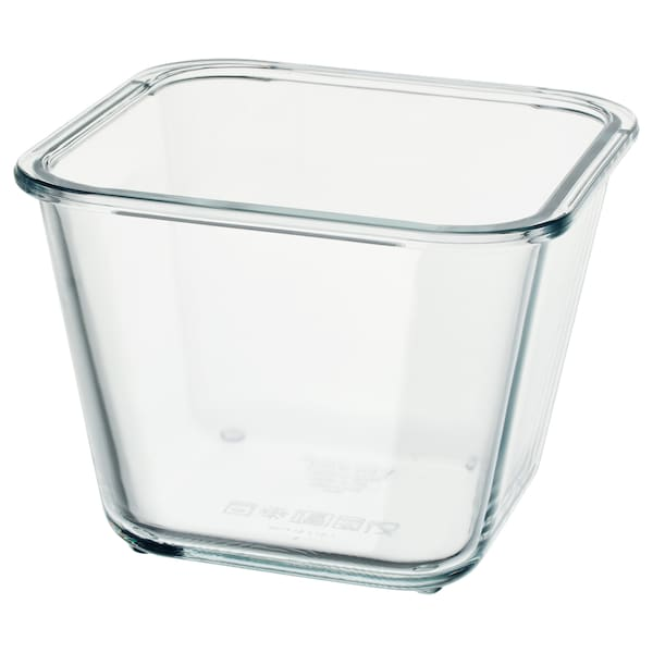 "IKEA 365+ food container square/glass 6 "" 6 "" 4 ¼ "" 41 oz"