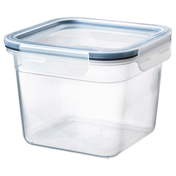 """IKEA 365+ food container with lid square/plastic 6 """" 6 """" 4 ¾ """" 47 oz"""