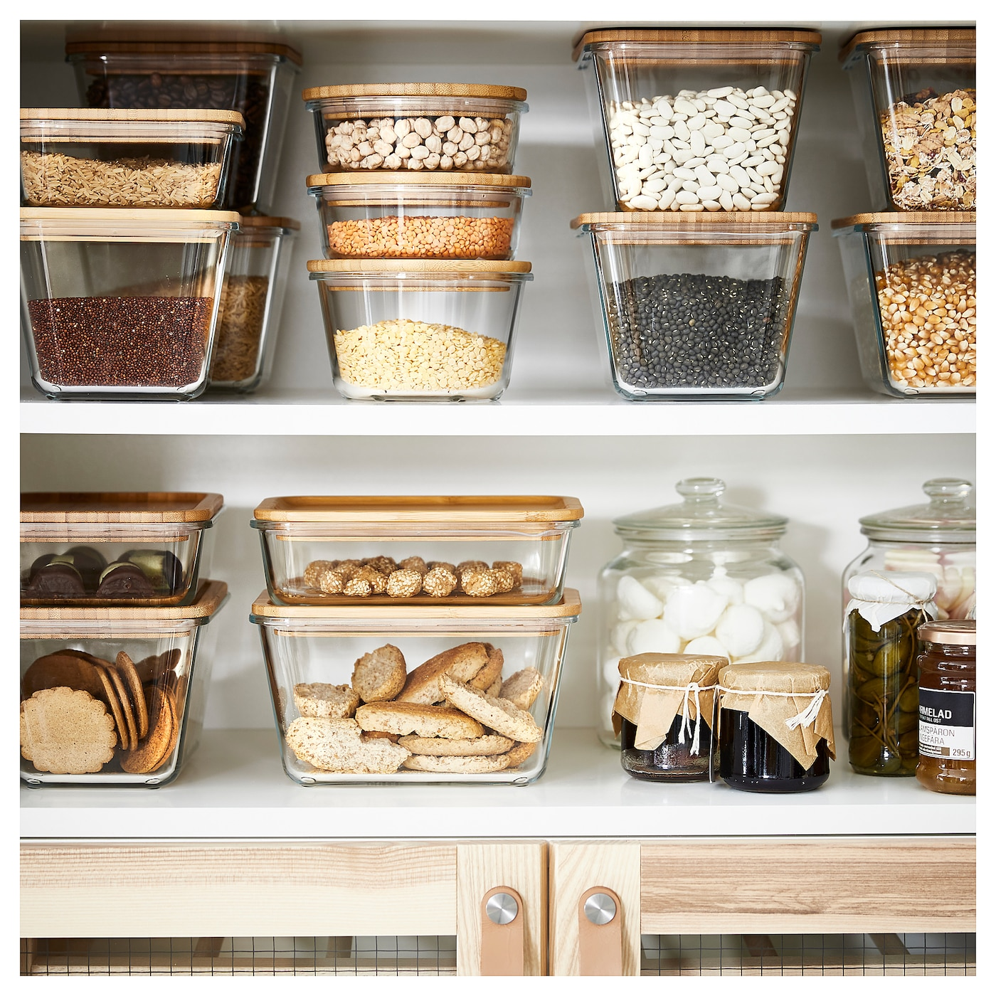"IKEA 365+ food container rectangular/glass 8 ¼ "" 6 "" 4 ¼ "" 61 oz"