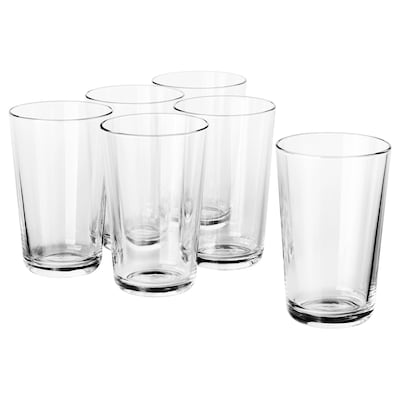 "IKEA 365+ glass clear glass 5 "" 15 oz 6 pack"