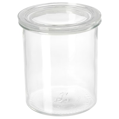 "IKEA 365+ jar with lid glass 7 "" 6 "" 57 oz"