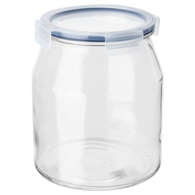"IKEA 365+ jar with lid glass/plastic 8 "" 7 "" 112 oz"