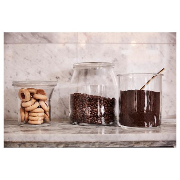 "IKEA 365+ jar with lid glass 8 "" 7 "" 112 oz"