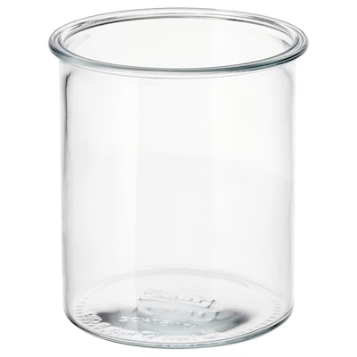 "IKEA 365+ jar round/glass 6 ¼ "" 5 ½ "" 57 oz"