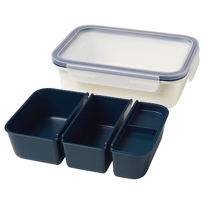 "IKEA 365+ lunch box with containers rectangular 8 ¼ "" 6 "" 2 ¼ "" 34 oz"