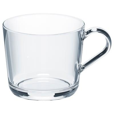 """IKEA 365+ mug clear glass 4 """" 12 oz"""