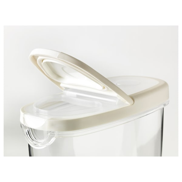 IKEA 365+ Dry food jar with lid, clear/white, 44 oz