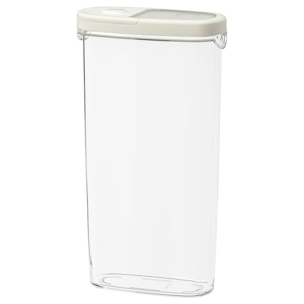 IKEA 365+ Dry food jar with lid, clear/white, 2 qt
