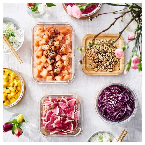 IKEA 365+ Food container, rectangular/glass, 34 oz