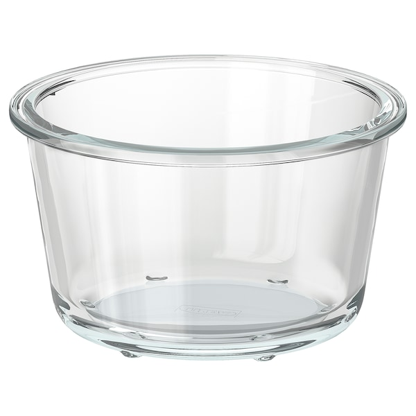 IKEA 365+ Food container, round/glass, 20 oz