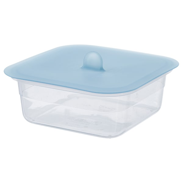 IKEA 365+ Food container with lid, square plastic/silicone, 25 oz