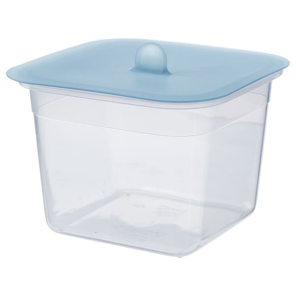 IKEA 365+ Food container with lid, square plastic/silicone, 47 oz