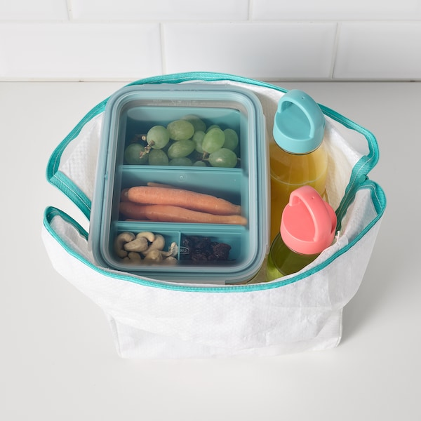 IKEA 365+ Lunch box with containers, rectangular/beige, 34 oz