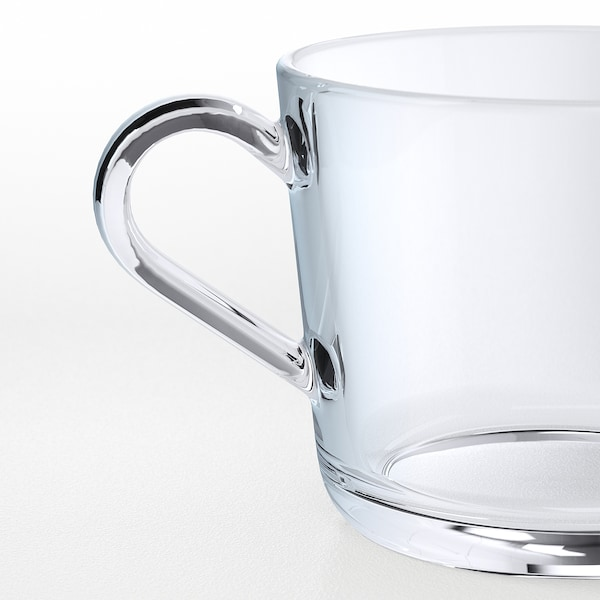 IKEA 365+ Mug, clear glass, 8 oz