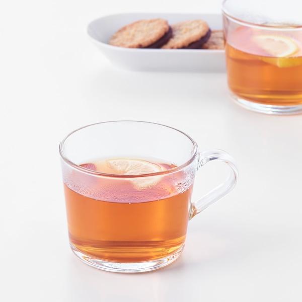 IKEA 365+ Mug, clear glass, 12 oz