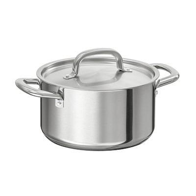 IKEA 365+ Pot with lid, stainless steel, 3 qt