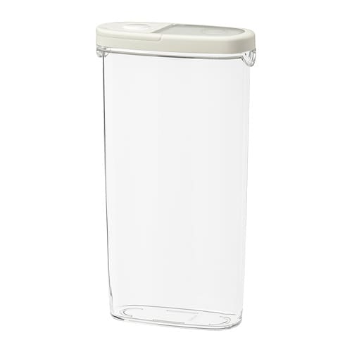 Charmant IKEA 365+   Dry Food Jar With Lid, Clear, White