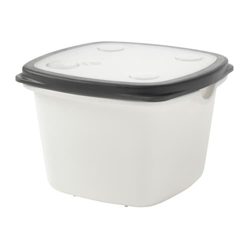 IKEA 365+ Food container, white, gray