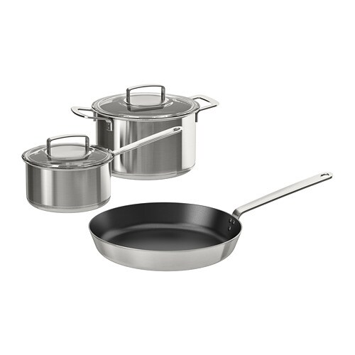 Ikea 365 5 Piece Cookware Set Suitable For All Types Of Cooktops