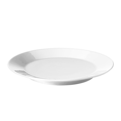 IKEA 365+ Plate, white white 8