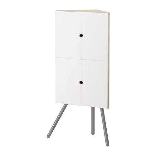 ikea ps 2014 corner cabinet white gray ikea. Black Bedroom Furniture Sets. Home Design Ideas