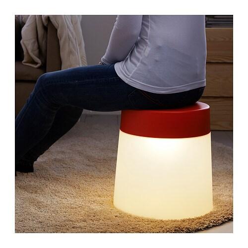 New IKEA PS 2014 LED stool lamp Orange Mood Light indoor ...