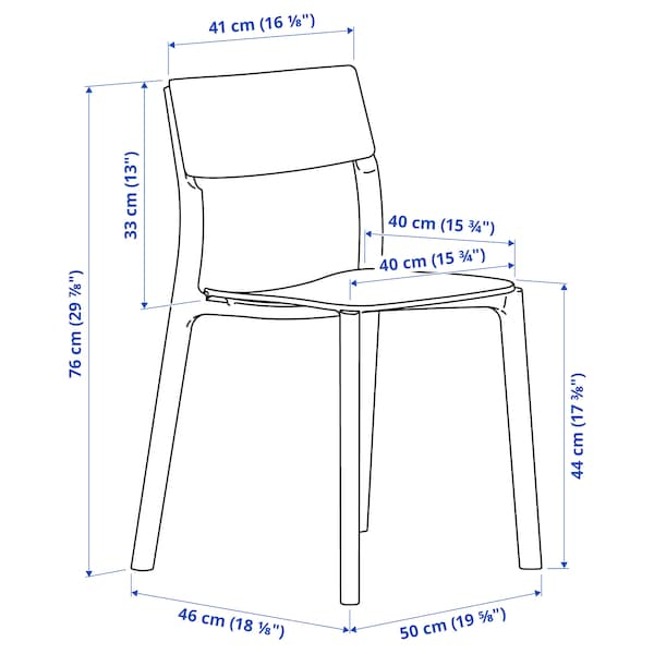 """IKEA PS 2012 / JANINGE Table and 4 chairs, bamboo/white, 54 3/8 """""""