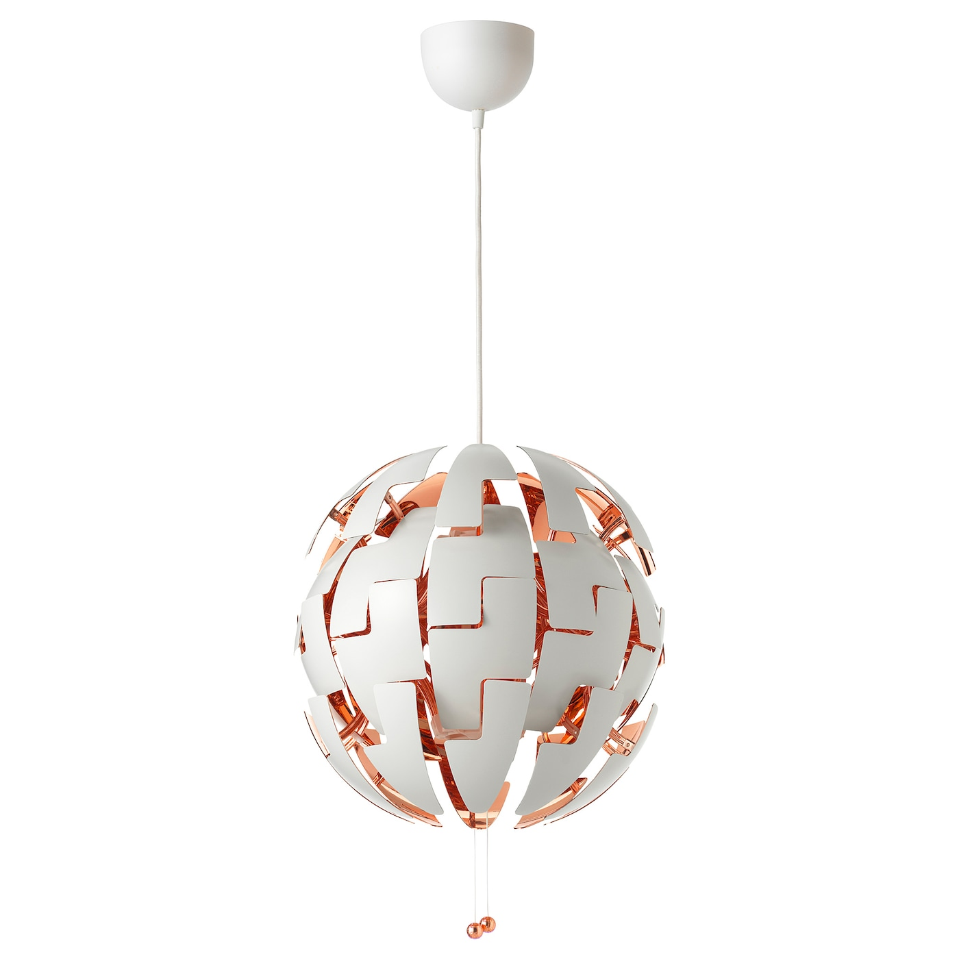 Lampadari A Pale Ikea.Ikea Ps 2014 Pendant Lamp White Copper Color 14 Ikea