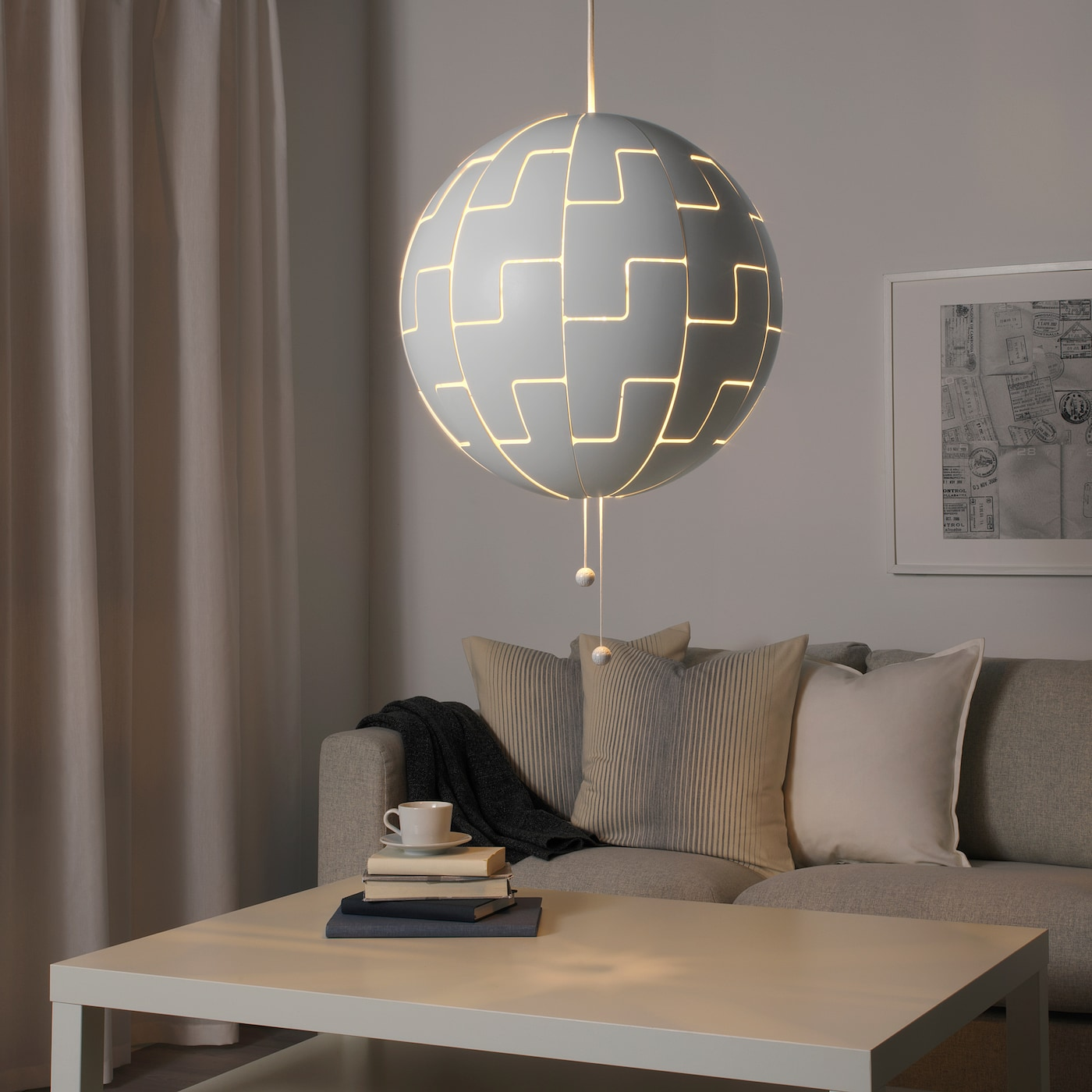 Not complicated section pace ikea ps lampa hink