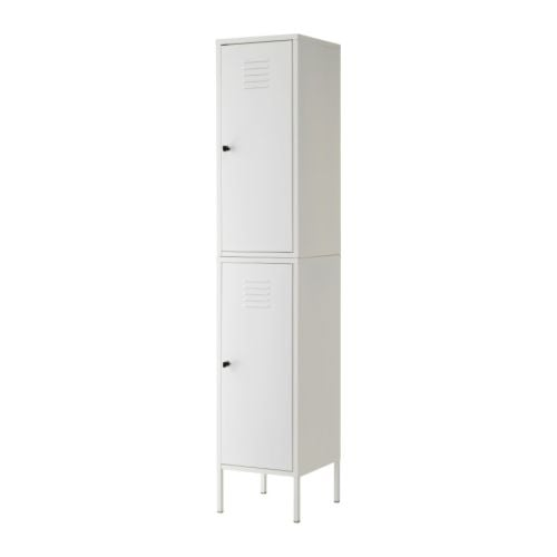 "IKEA PS Cabinet white Width: 14 5/8 "" Depth: 15 3/4 "" Height: 74 3/4 ""  Width: 37 cm Depth: 40 cm Height: 190 cm"