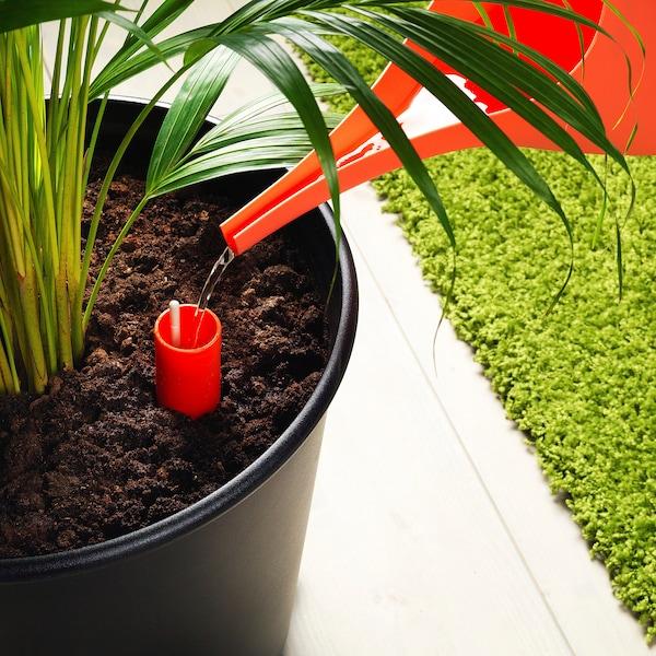 """IKEA PS FEJÖ self-watering plant pot black 13 ¾ """" 15 ¼ """" 12 ½ """" 13 ¾ """""""