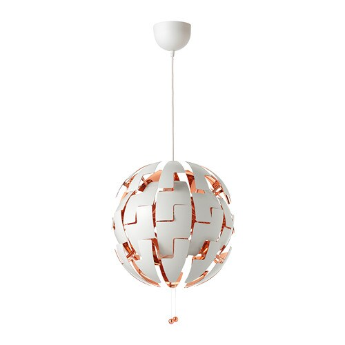 Ikea Ps 2014 Pendant Lamp White Copper Color Ikea