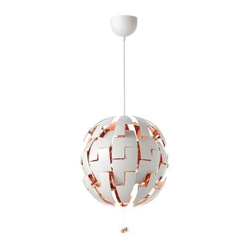 IKEA PS 2014 Pendant lamp, white, copper color white/copper color -