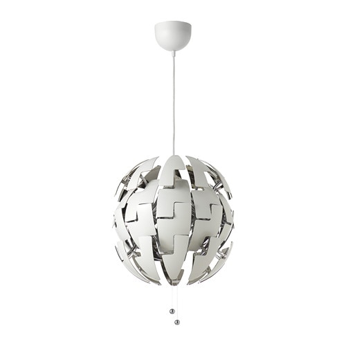 ikea ps 2014 pendant lamp white silver color ikea. Black Bedroom Furniture Sets. Home Design Ideas