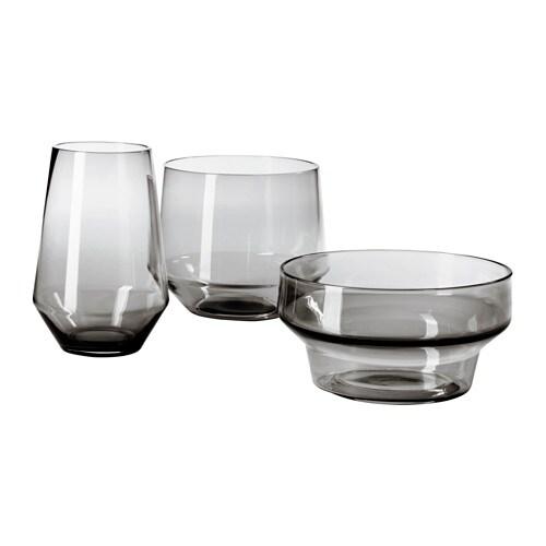 IKEA PS 2017 Vase, set of 3, gray