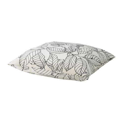 IKEA STOCKHOLM BLAD Cushion, white, black $14.99