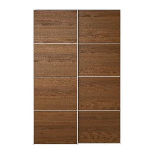 Armadio Ikea Pax 4 Ante.Ilseng Pair Of Sliding Doors 59x92 7 8 Soft Closing Damper Ikea