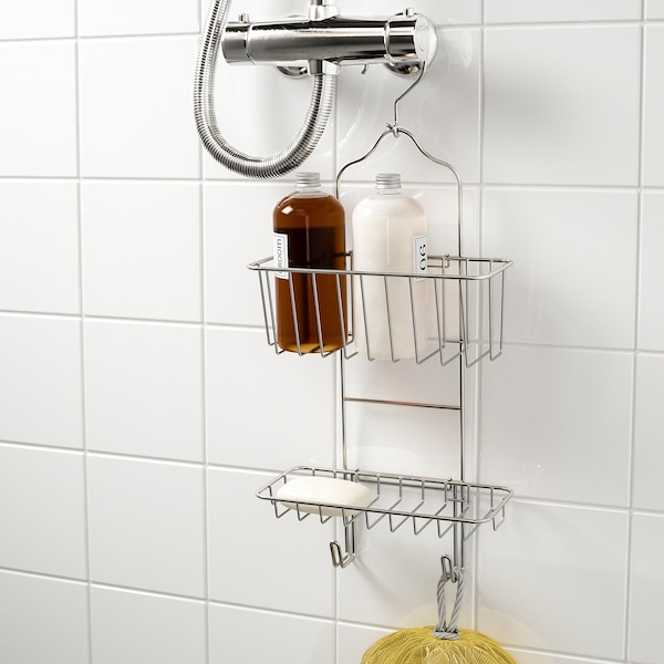 """IMMELN Shower caddy, two tiers, zinc plated, 9 ½x20 ¾ """""""