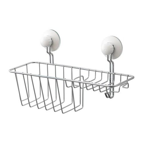 IMMELN Shower/soap basket with hook, zinc plated