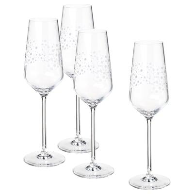 INBJUDEN Champagne flute, clear glass, 8 oz