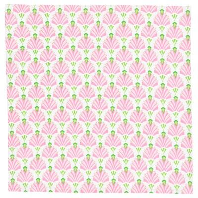 """INBJUDEN Napkin, white/pink, 18x18 """""""