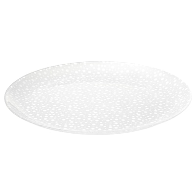 """INBJUDEN Plate, frosted glass, 10 1/4 """""""