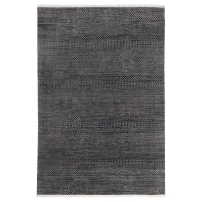 """INDO AGRA PASTURE Rug, handmade/grass blue/gray, 5 ' 3 """"x7 ' 7 """""""