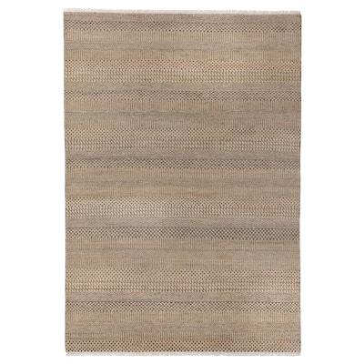 "INDO AGRA PASTURE Rug, handmade/gray/beige, 5 ' 3 ""x7 ' 7 """