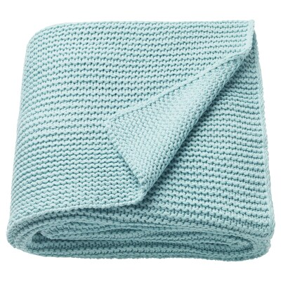 "INGABRITTA throw light blue 67 "" 51 "" 38 oz"